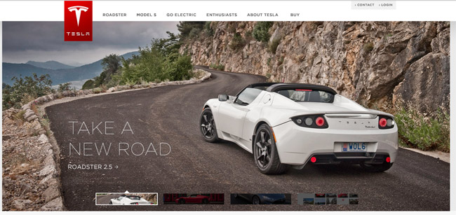 Tesla Motors Website