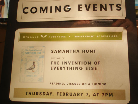 Reading, Discussion and Signing of Samantha Hunt